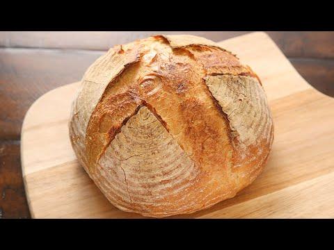 免揉乡村面包 仅需4种材料 制作经典法式硬欧包 No Knead Country Bread