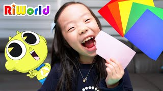 Edible Colored Paper candy educational videos for children