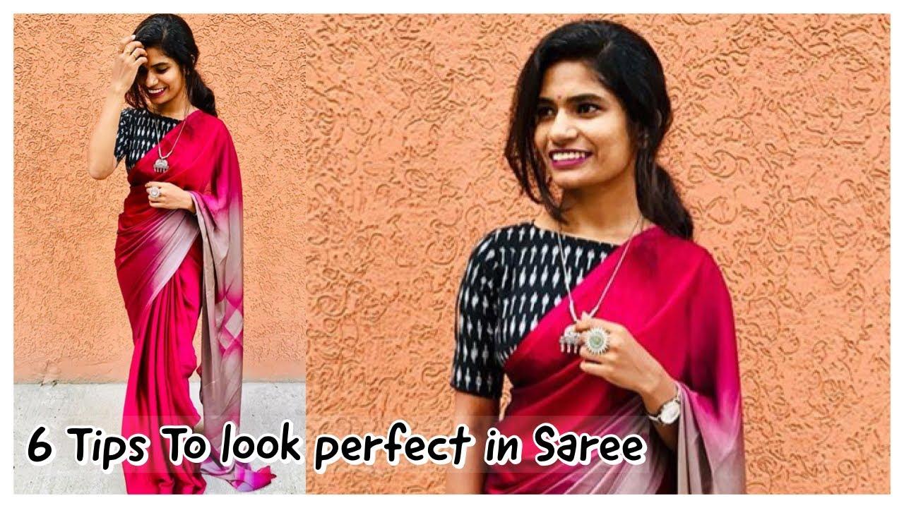 6 Tips to look perfect in Saree | Saree draping tips | nayalooks | Navya Varma