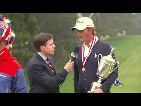 Crazy Fan Interrupts Webb Simpson's 2012 US Open Interview HD