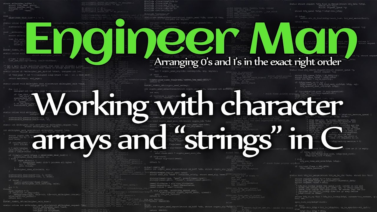 Working with character arrays and