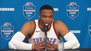 (FULL) Thunder's Russell Westbrook press conference | 2017 NBA Media Day | ESPN