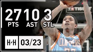 Lou Williams Full Highlights Clippers vs Pacers (2018.03.23) - 27 Pts, 10 Ast, 3 Stl!