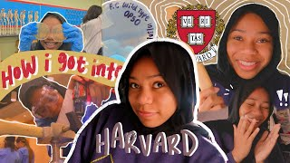 how i got iฑto harvard 📚 *stats, extracurriculars, essays, & more*