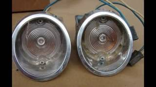 1965 CUTLASS 442 FRONT BUMPER TURN SIGNAL PARK LAMPS OLDSMOBILE 330 350 400 455