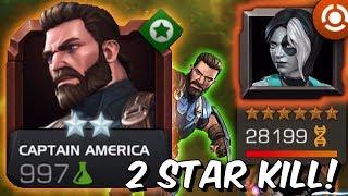 2 Star Captain America VS 6 Star Domino Boss Rush #2 - Marvel Contest of Champions