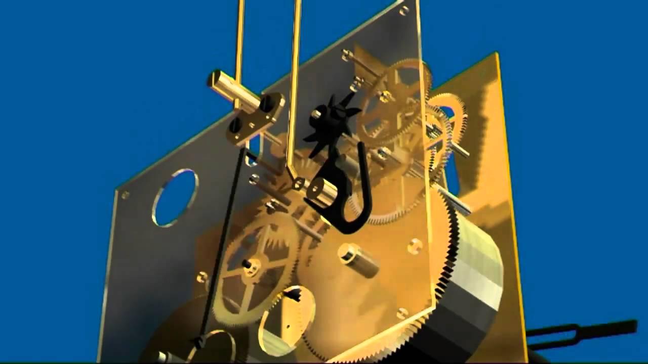 M canisme d 39 horloge youtube for Mecanisme horloge murale
