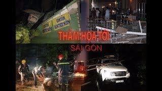 Cây bật gốc đè ôtô nhà cửa, ký túc xá đại học tan hoang sau trận cuồng phong kinh hoàng ở Sài Gòn