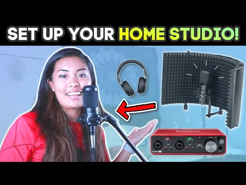 How To Setup A RECORDING STUDIO For Singing! (CHEAP & EASY)
