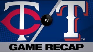 Schoop's homer lifts Twins past the Rangers | Twins-Rangers Game Highlights 8/16/19