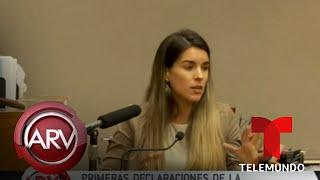 Declara por primera vez en corte la esposa de Pablo Lyle | Al Rojo Vivo | Telemundo