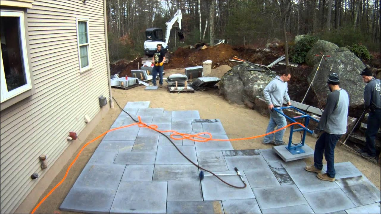 Best Way To Lay Large Paving Slabs - YouTube