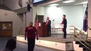 Attendees chant 'you lie' at U.S. Rep. Joe Wilson during Graniteville town hall