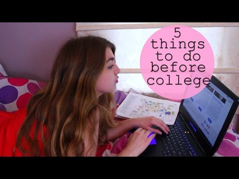 5 Things to do the Summer Before College