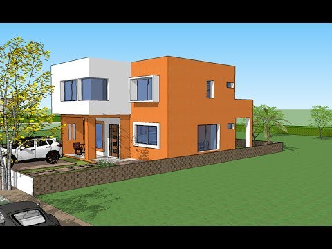 Plano casa 10x20 mts terreno youtube for Casa minimalista 80 metros