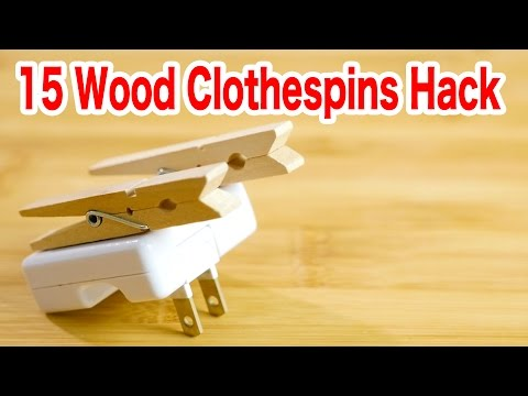 15 Things You Can Make From Wood ClothespinsDIY