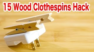 木製クリップでできる15のDIY 木の洗濯バサミ簡単活用法【便利ライフハックの100均DIY】