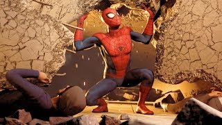 Spider-Man PS4 Save the Civilians From the Fallen Debris Spectacular Difficulty 4k Ultra HD 2160p