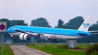 B777 AERODYNAMIC BRAKING, SMOOTHEST LANDING EVER by KLM