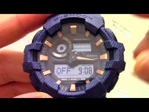 Часы Casio G - SHOCK GA-700DE-2A - Инструкция, как настроить от PresidentWatches.Ru