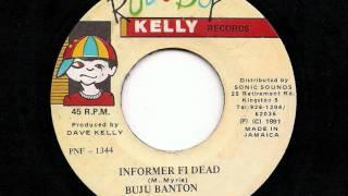 "BUJU BANTON - 'Informer Fi Dead' + Version - JA 7"" 1991"