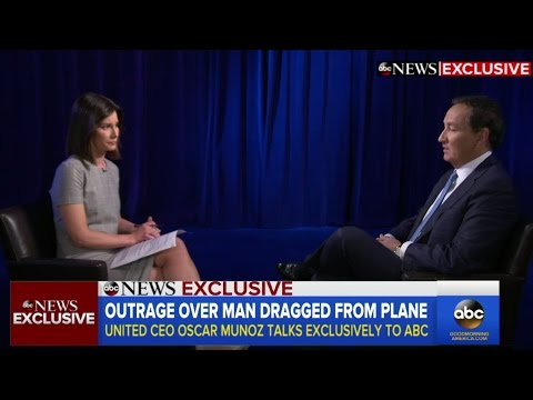 United Airlines CEO Oscar Munoz | INTERVIEW after passenger dragged off flight