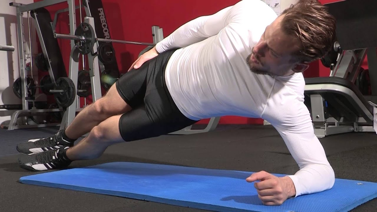 Planche latérale dynamique - Exercice de musculation Abdominaux - YouTube