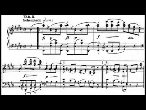 "Chopin / Barbara Hesse-Bukowska, 1958: ""Variations Pour Piano Sur Un Air Allemand"" in E Major (1824)"