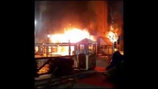 Incendie à Aix : les images du départ du feu aux