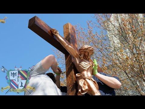 Standing Outdoor Crucifix - Construction & Installation