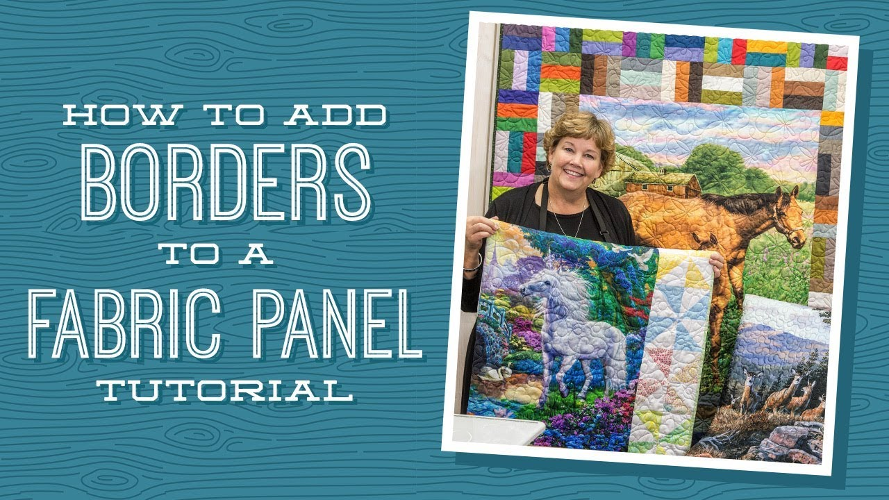 How To Add Borders To A Quilt Panel Youtube