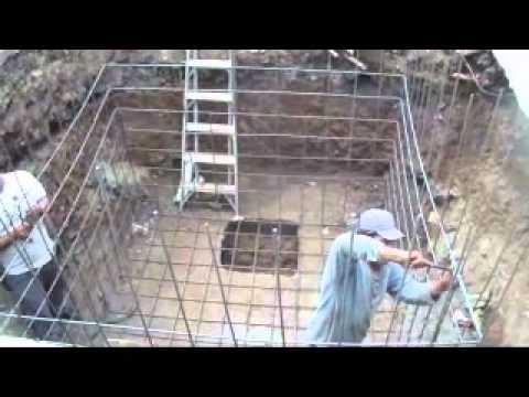 Cisterna de 10 m3 armado de varilla youtube for Cisternas de cemento
