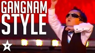 4 Year Old Kid Tristan Dances Gangnam Style on Belgium\'s Got Talent | Got Talent Global