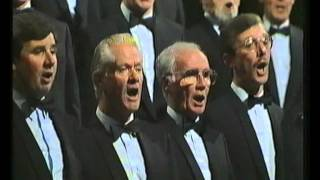 """Treorchy Male Choir singing """"Llef"""" on S4C's """"Canwn Moliannwn"""", 1990"""