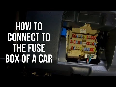 How to connect to a cars fuse box. - YouTubeYouTube