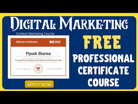 Free Digital Marketing Course With Professional Certification   Semrush Free Certification Courses