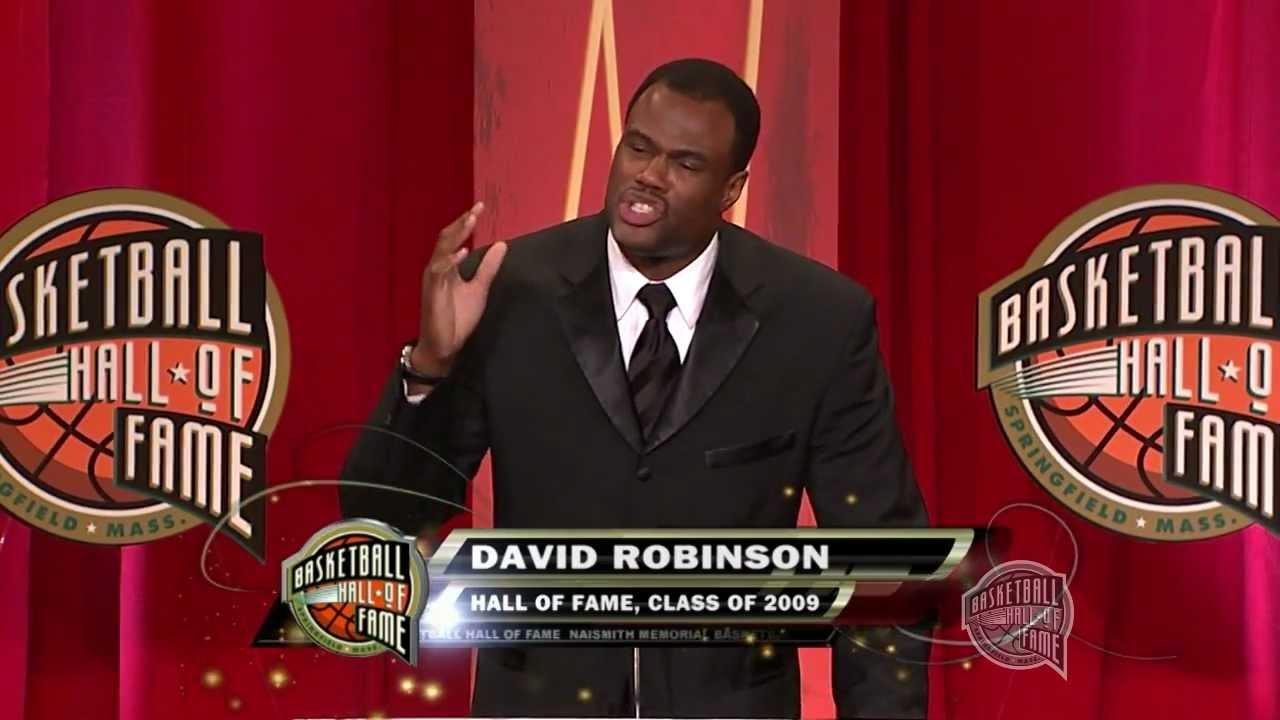 David Robinson s Basketball Hall of Fame Enshrinement Speech