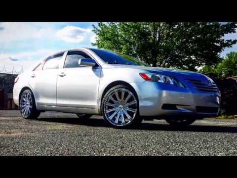 2008 Toyota Camry Sitting On 20 Borghini B 18 Chrome Wheels With 225 35 Lexani Tires