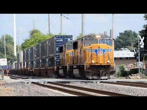 Amtrak And Union Pacific In Bloomington-Normal, IL - 9-5-16