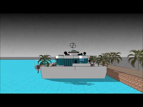 Billionaire Houseboat Hausboot waterfront property in Germany Hamburg Berlin high end floating mansi