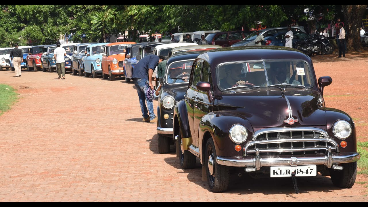 Vintage Car Rally At Thrissur !!! - YouTube