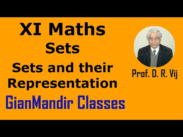 XI Maths | Sets | Sets and their Representation by Divya Ma'am