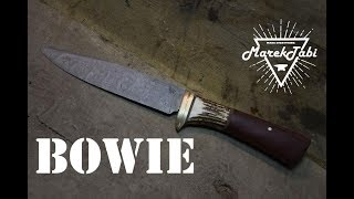 How to make Damascus Bowie