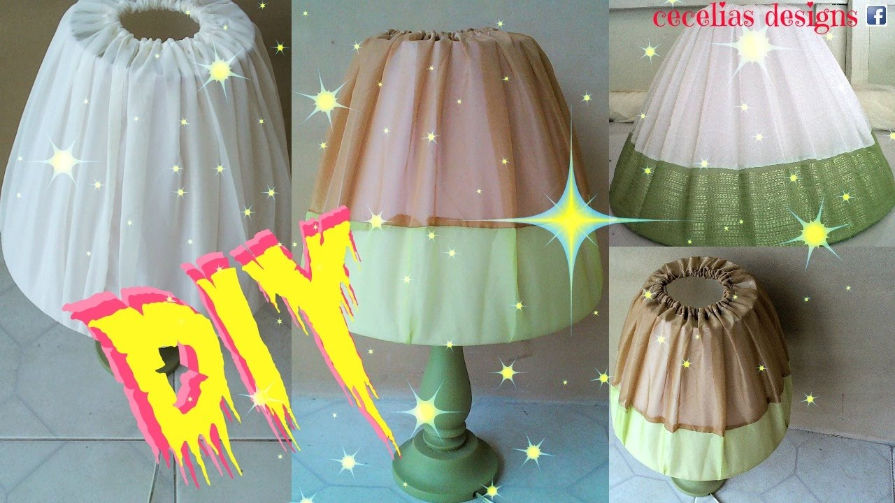 How to make a lampshade cover diy tutorial youtube how to make a lampshade cover diy tutorial aloadofball Images