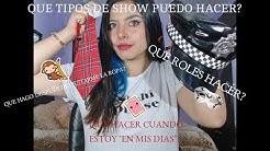 TIPOS DE SHOWS PARA CHICAS WEBCAM