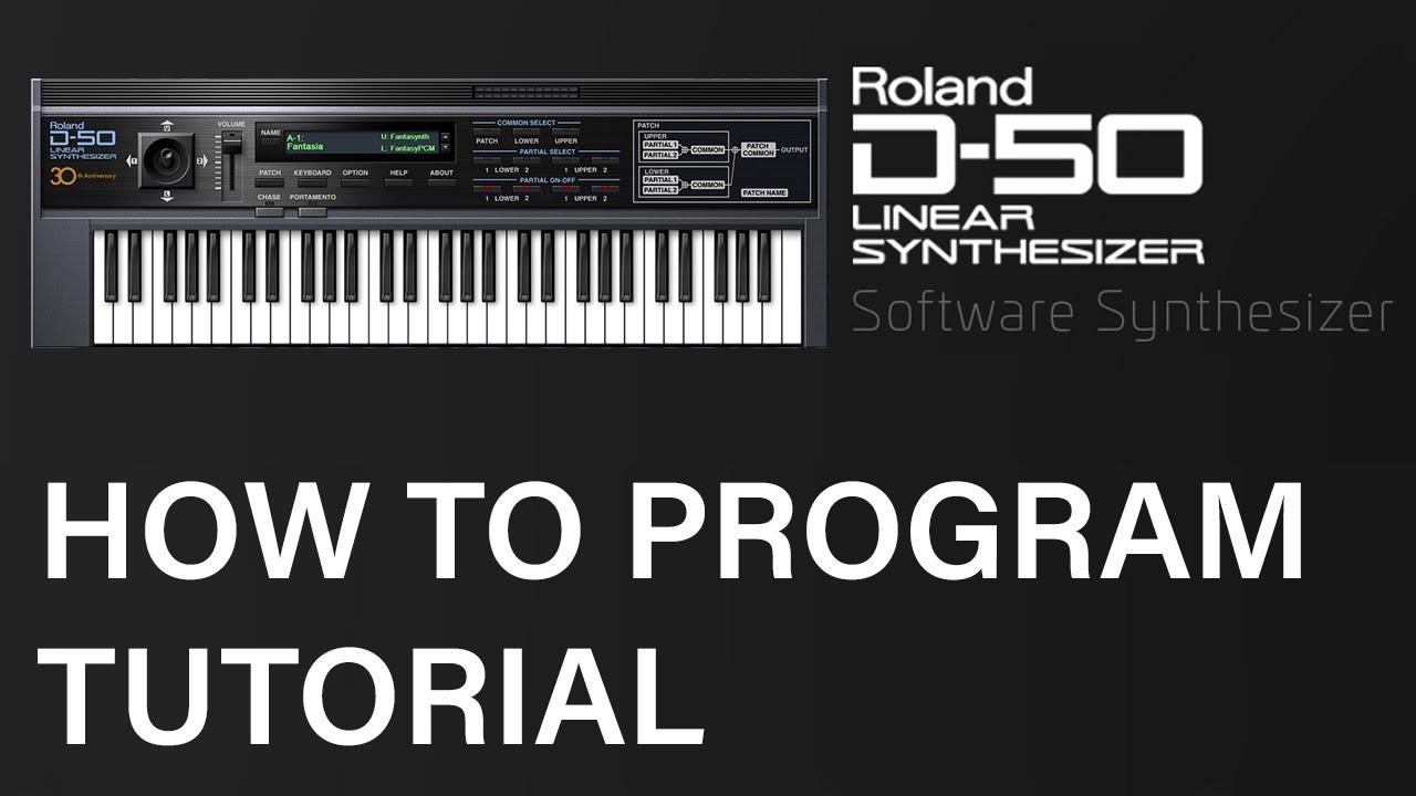 How to program a Roland D-50 !!