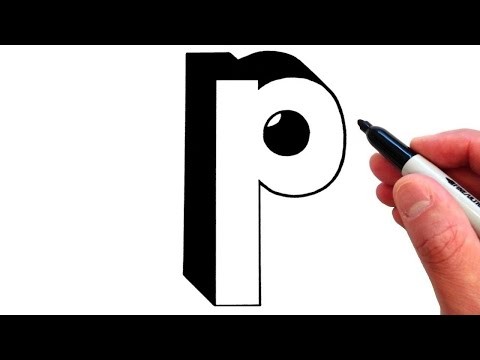 How to Draw Letter p in Lowercase 3D