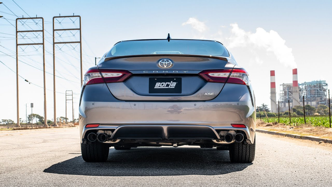 borla exhaust for 2018 2021 toyota camry xse 3 5l v6