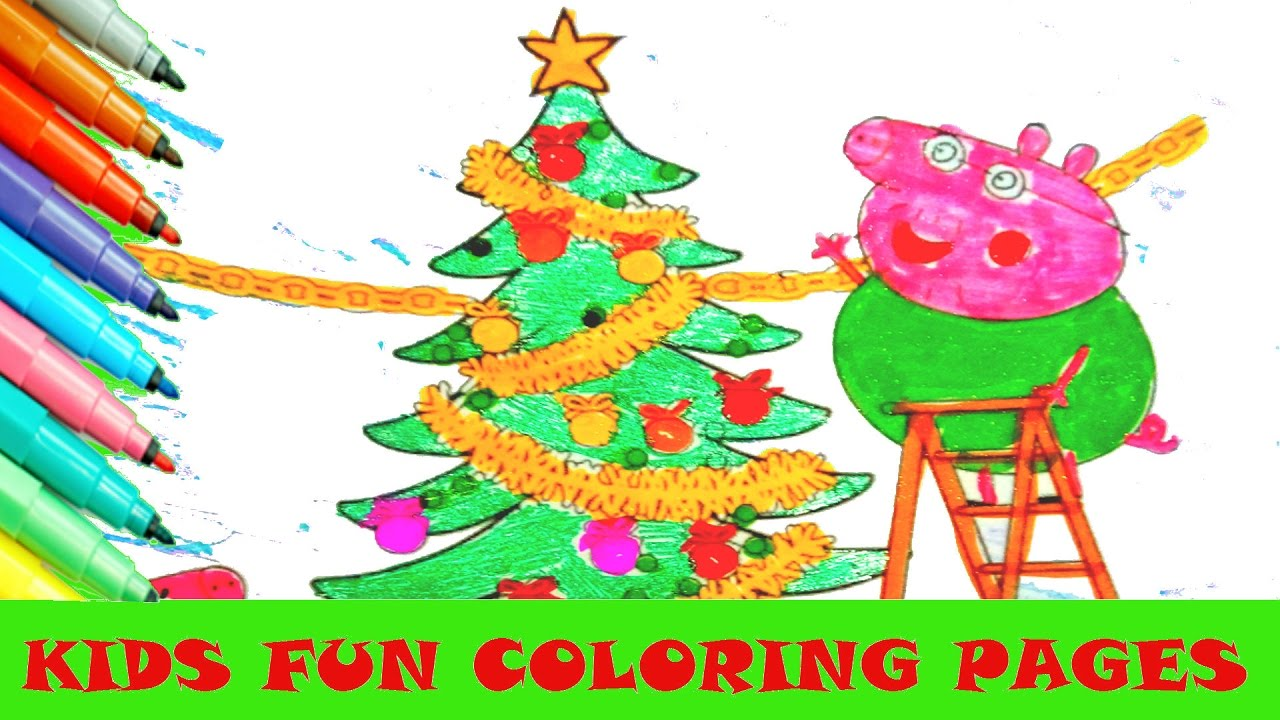 Art color book - Coloring Pages Peppa Pig Christmas Daddy Pig Mummy Pig Kids Fun Art Color Activity Color Book