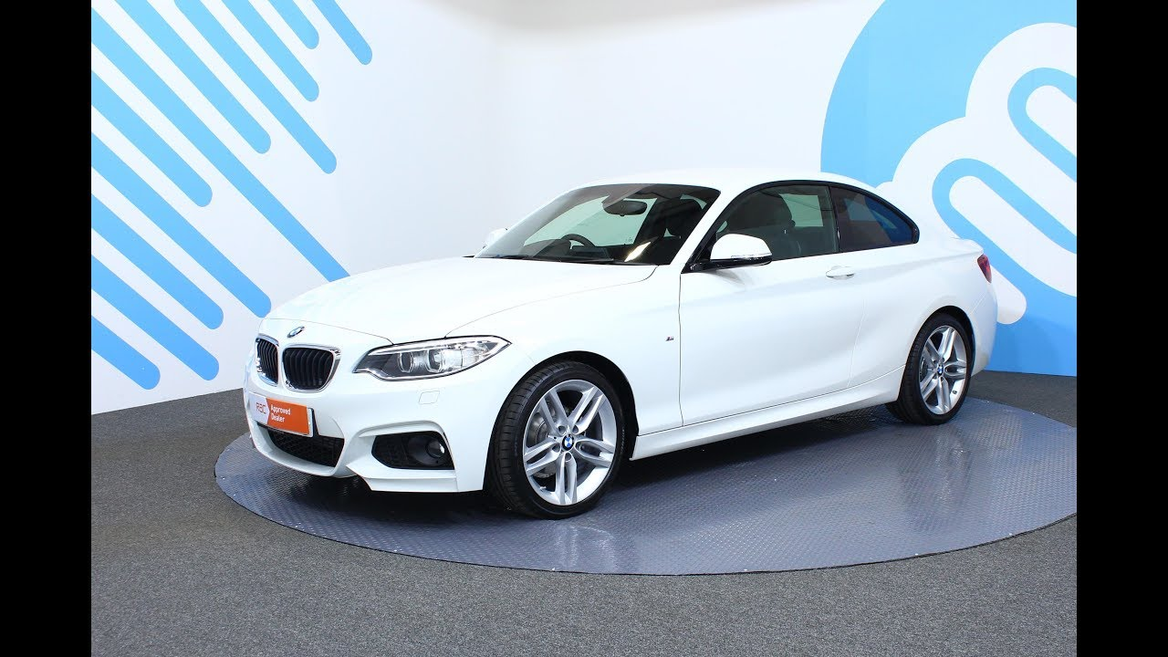 bmw 2 series 2 0 218d m sport coupe auto 2dr start stop youtube. Black Bedroom Furniture Sets. Home Design Ideas